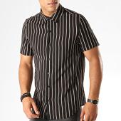 /achat-chemises-manches-courtes/frilivin-chemise-manches-courtes-a-rayures-bm1043c-noir-beige-marron-187459.html