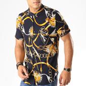 /achat-chemises-manches-courtes/frilivin-chemise-manches-courtes-bm1043f-bleu-fonce-jaune-blanc-187461.html