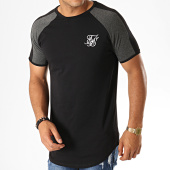 /achat-t-shirts-longs-oversize/siksilk-tee-shirt-oversize-a-bandes-contrast-panel-15070-noir-gris-chine-187536.html