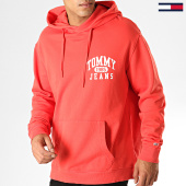 /achat-sweats-capuche/tommy-hilfiger-jeans-sweat-capuche-graphic-washed-6591-rouge-blanc-187440.html