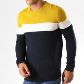 /achat-pulls/brave-soul-pull-maxon-bleu-fonce-jaune-moutarde-blanc-187585.html