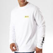 /achat-t-shirts-manches-longues/hugo-by-hugo-boss-tee-shirt-manches-longues-reverse-logo-dyderabad-50414452-blanc-noir-jaune-187663.html