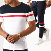/achat-ensembles-survetement/lbo-ensemble-tee-shirt-et-pantalon-jogging-tricolore-827-bleu-marine-blanc-rouge-187712.html