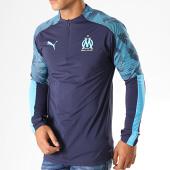 /achat-t-shirts-manches-longues/puma-tee-shirt-manches-longues-om-zip-training-755831-bleu-marine-bleu-ciel-187646.html