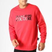 /achat-sweats-col-rond-crewneck/versace-jeans-couture-sweat-crewneck-logo-gloss-b7gua7fy-rouge-noir-187616.html
