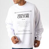 /achat-sweats-col-rond-crewneck/versace-jeans-couture--sweat-crewneck-renaissance-print-7-b7gua7f7-blanc-noir-187618.html