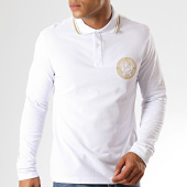 /achat-polos-manches-longues/versace-jeans-couture-polo-manches-longues-medal-embroidery-b3gua7p6-blanc-dore-187619.html