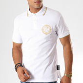/achat-polos-manches-courtes/versace-jeans-couture-polo-manches-courtes-medal-embroidery-b3gua7p5-blanc-dore-187625.html