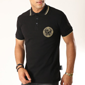 /achat-polos-manches-courtes/versace-jeans-couture-polo-manches-courtes-medal-embroidery-b3gua7p5-noir-dore-187626.html