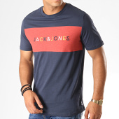/achat-t-shirts/jack-and-jones-tee-shirt-albas-bleu-marine-rouge-brique-chine-187741.html