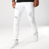 /achat-jeans/lbo-jean-skinny-avec-dechirures-lb054-5-blanc-187767.html