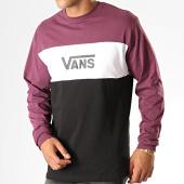 /achat-t-shirts-manches-longues/vans-tee-shirt-manches-longues-retro-active-vn0a45b6tn6-noir-blanc-violet-prune-187788.html