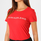 /achat-t-shirts/calvin-klein-tee-shirt-femme-institutional-logo-7940-rouge-187841.html