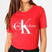 /achat-t-shirts/calvin-klein-tee-shirt-femme-metallic-monogram-1508-rouge-argente-blanc-187850.html
