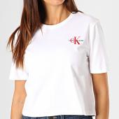/achat-t-shirts/calvin-klein-tee-shirt-femme-crop-monogram-embroidery-1592-blanc-rouge-187856.html