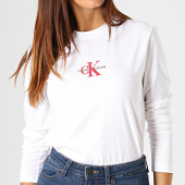 /achat-t-shirts-manches-longues/calvin-klein-tee-shirt-manches-longues-femme-monogram-embroidery-1804-blanc-rouge-gris-187875.html