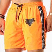 /achat-maillots-de-bain/jeune-riche-short-de-bain-avec-bandes-storm-orange-fluo-noir-blanc-187961.html