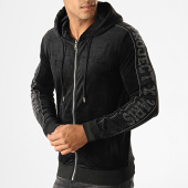 /achat-sweats-zippes-capuche/project-x-sweat-zippe-capuche-a-bandes-1930045-noir-187942.html