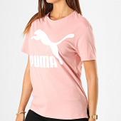 /achat-t-shirts/puma-tee-shirt-femme-classics-logo-595514-rose-blanc-187920.html
