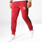 /achat-pantalons-joggings/puma-pantalon-jogging-slim-a-bandes-iconic-t7-595287-bordeaux-187921.html