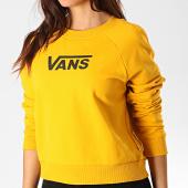 /achat-sweats-col-rond-crewneck/vans-sweat-crewneck-crop-femme-flying-v-a47thumx-jaune-187812.html