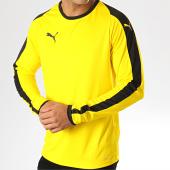 /achat-t-shirts-manches-longues/puma-tee-shirt-manches-longues-a-bandes-liga-703419-jaune-188013.html