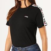 https://www.laboutiqueofficielle.com/achat-t-shirts/fila-tee-shirt-femme-a-bandes-adalmiina-687215-noir-blanc-rouge-188112.html