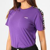 /achat-t-shirts/fila-tee-shirt-femme-a-bandes-adalmiina-687215-violet-noir-blanc-188113.html