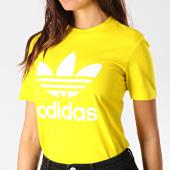 /achat-t-shirts/adidas-tee-shirt-femme-trefoil-ed7495-jaune-blanc-188243.html