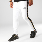 /achat-pantalons-joggings/final-club-pantalon-jogging-gold-label-avec-bandes-et-broderie-or-277-blanc-188277.html