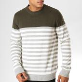 /achat-pulls/produkt-pull-a-rayures-fred-vert-kaki-gris-blanc-188207.html