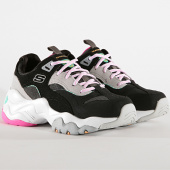/achat-baskets-basses/skechers-baskets-femme-dlites-3-0-ocean-cloud-13377-black-hot-pink-188156.html