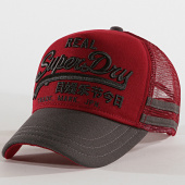 /achat-trucker/superdry-casquette-trucker-premium-good-bordeaux-gris-188163.html