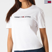 /achat-t-shirts/tommy-hilfiger-jeans-tee-shirt-femme-clean-linear-logo-7429-blanc-noir-188190.html