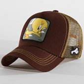 /achat-trucker/looney-tunes-casquette-trucker-titi-marron-jaune-188400.html