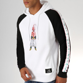 /achat-sweats-capuche/dragon-ball-z-sweat-capuche-a-bandes-buu-blanc-noir-188349.html