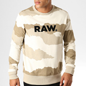 /achat-sweats-col-rond-crewneck/g-star-sweat-crewneck-graphic-19-core-d15172-b531-beige-camouflage-188333.html