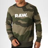 /achat-sweats-col-rond-crewneck/g-star-sweat-crewneck-graphic-19-core-d15172-b531-vert-kaki-camouflage-188334.html