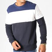 /achat-sweats-col-rond-crewneck/g-star-sweat-crewneck-libe-core-d15256-b349-bleu-marine-blanc-noir-188336.html