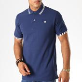 /achat-polos-manches-courtes/g-star-polo-manches-courtes-dunda-slim-stripe-d13325-5864-bleu-marine-blanc-188362.html