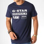 /achat-t-shirts/g-star-tee-shirt-graphic-8-d14143-336-bleu-marine-blanc-188364.html
