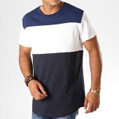 /achat-t-shirts-longs-oversize/g-star-tee-shirt-oversize-starkon-graphic-loose-d10715-336-bleu-marine-blanc-188376.html