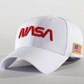 /achat-casquettes-de-baseball/nasa-casquette-70s-logo-blanc-rouge-188412.html