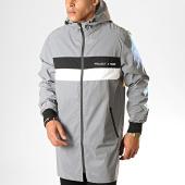/achat-vestes/project-x-veste-zippee-capuche-reflechissant-1930027-gris-metallise-noir-blanc-188381.html