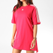/achat-robes/adidas-robe-tee-shirt-femme-a-bandes-ed5863-rouge-blanc-188600.html