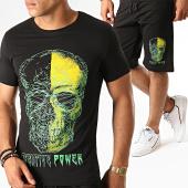 /achat-ensembles-survetement/john-h-ensemble-tee-shirt-short-jogging-avec-strass-esh06-noir-vert-188539.html
