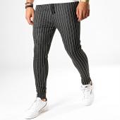 /achat-pantalons-carreaux/john-h-pantalon-a-rayures-k5-gris-anthracite-chine-blanc-188543.html