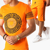 /achat-ensembles-survetement/john-h-ensemble-tee-shirt-short-jogging-a-bandes-renaissance-esh10-orange-noir-188579.html