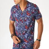 /achat-chemises-manches-courtes/mackten-chemise-manches-courtes-bandana-g-011-d1-bleu-marine-rouge-188616.html