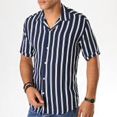 /achat-chemises-manches-courtes/mackten-chemise-manches-courtes-a-rayures-222464-bleu-marine-blanc-188617.html